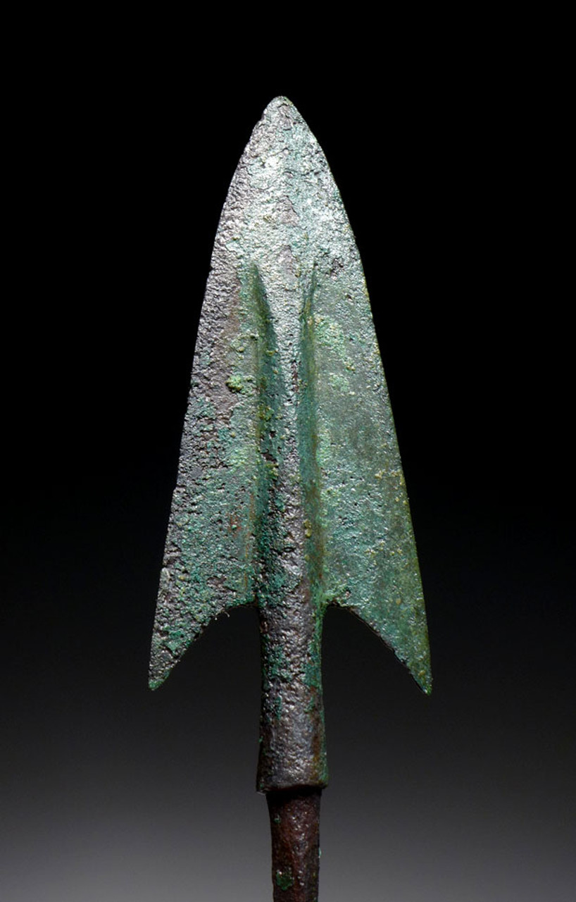 LARGE ANCIENT BRONZE BARBED JAVELIN SPEARHEAD FROM THE NEAR EASTERN LURISTAN CULTURE *NE193
