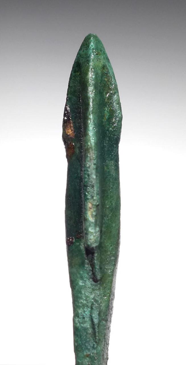 RARE ANCIENT GREEK MACEDONIA CAST BRONZE LONG TANGED ARROWHEAD *NE197