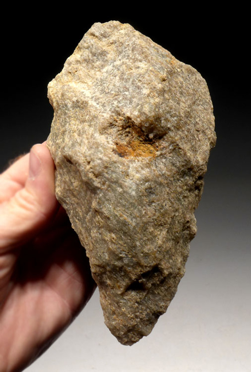 ACH200 - ULTRA RARE EAST AFRICAN ACHEULIAN HANDAXE WITH FINGER GRIP IN RHYOLITE FROM FAMOUS SITE