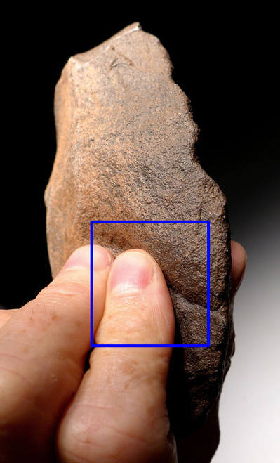 ACH231 - AFRICAN ACHEULIAN CLEAVER HANDAXE WITH INTELLIGENT GRIP FEATURES MADE BY HOMO ERGASTER