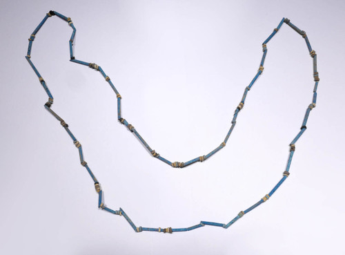 """NE156 - SUPERB 34"""" WEARABLE AUTHENTIC ANCIENT EGYPTIAN """"MUMMY BEAD"""" FAIENCE, STONE AND CLAY BEAD NECKLACE"""
