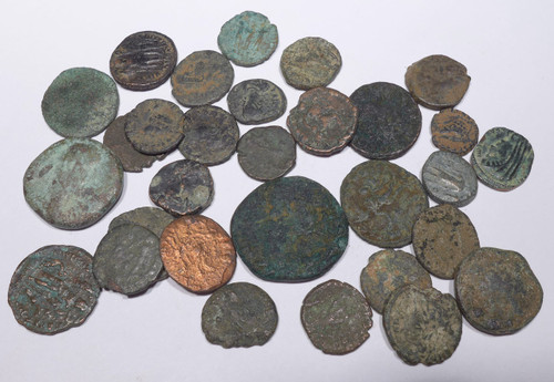 AC003 - 30 QUALITY ANCIENT BRONZE COINS OF ROMAN GREEK BYZANTINE BIBLICAL ISLAMIC CULTURES