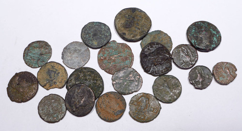 AC004 - 20 QUALITY ANCIENT BRONZE COINS OF ROMAN GREEK BYZANTINE BIBLICAL ISLAMIC CULTURES