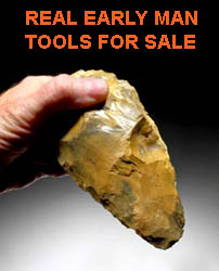 EARLY MAN HAND AXE TOOL