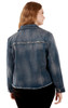 Plus Size Basic Denim Jacket In Steel