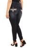 Plus Size Signature Skinny with Embellished Pocket In Amaryllis