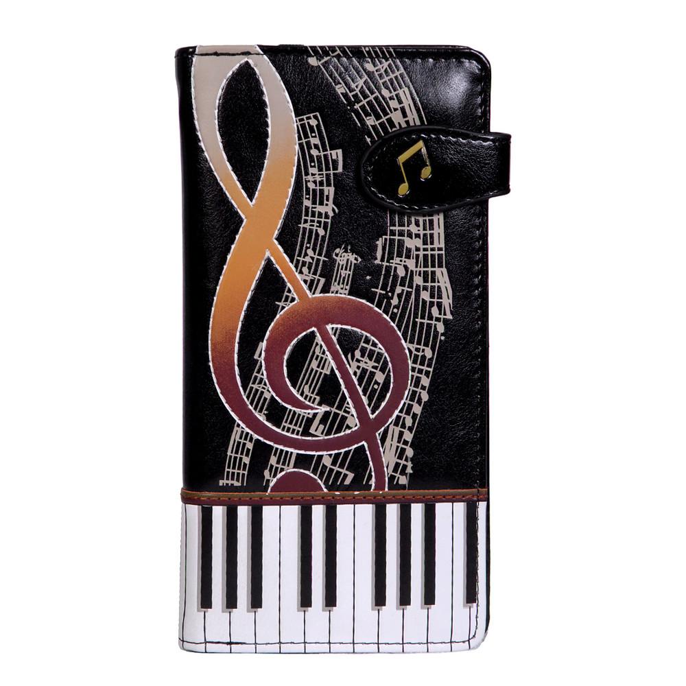 Artistic Piano Keyboard - Large Zipper Wallet