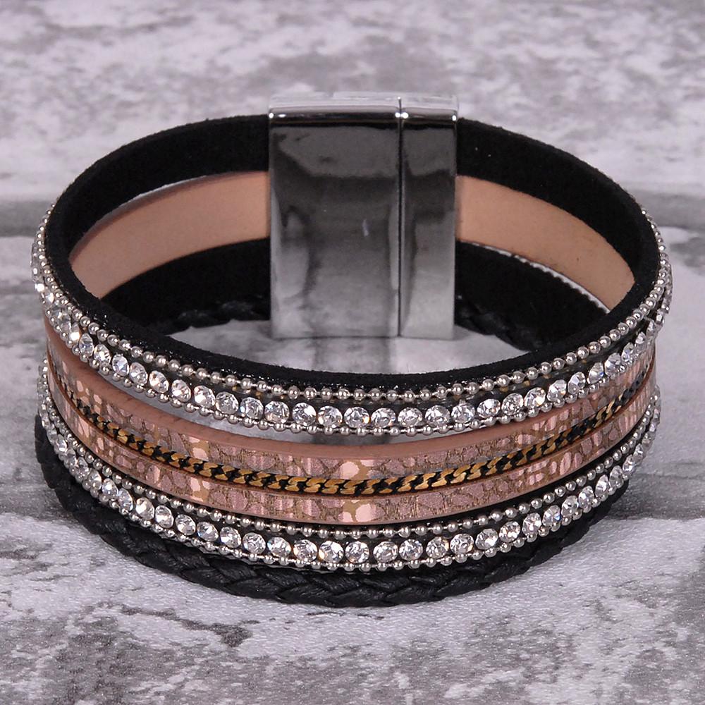 Brown and Black - Wrap Bracelet