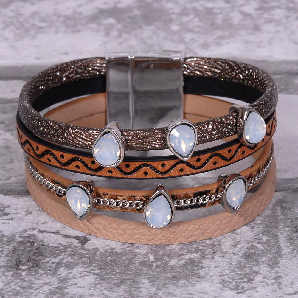 Southwestern Brown - Wrap Bracelet
