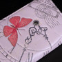 Vintage Butterfly Timepiece - Large Zipper Wallet