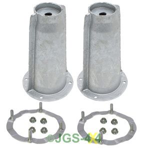 Land Rover Defender Galvanised Front Shock Absorber Turrets & Securing Rings
