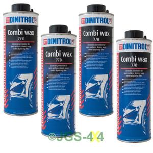 Dinitrol 77B Rust Proofing Combi Wax Underseal 1 Litre Shutz Cans x 4 - DA1982
