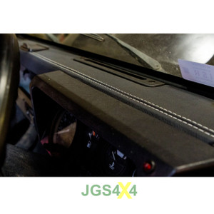 Land Rover Defender Dashboard Trim Grained Black Vinyl With White Stitching