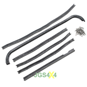 Land Rover Series 2/2A/3 Rear Safari Door Seal Kit Left Hand OEM - DA1498G