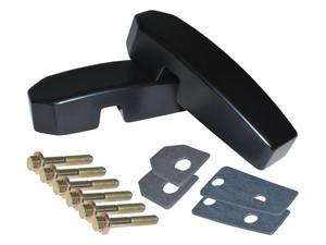 Defender Billet Aluminium Windscreen Brackets  Black - DA1142B