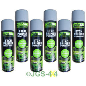 Etch Primer Professional Acid Grey Primer 500ml AUTOTEK x 6 CANS