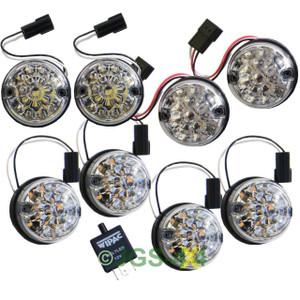 Land Rover Defender WIPAC Clear LED Lens Lamp Upgrade Kit 73mm Lens - DA1191