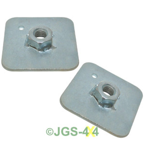 Universal Seat Belt Spreader Stress Fitting Plate x2 - DA3502