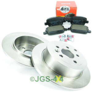 Land Rover Freelander 2 Rear Brake Disc + MINTEX Brake Pad Kit