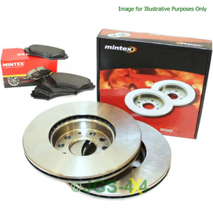 Land Rover Defender Rear Brake Disc & Pads Kit MINTEX Solid - MDK0142