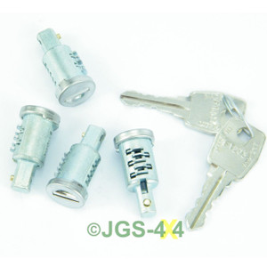 Land Rover Defender Door Lock & Key Set 4 Barrel - MTC6505