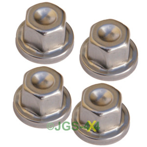 Land Rover Discovery 1, 2 & Defender Stainless Steel Locking Wheel Nut Cover x4