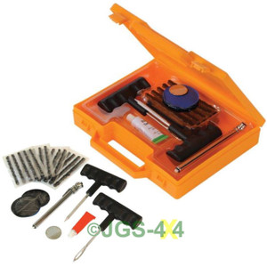 Off Road 4x4 Tyre Puncture Repair Kit For Tubed + Tubeless Tyres ATV Expepition