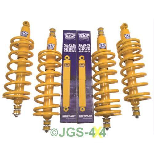 land rover defender 90 suspension 2 lift kit coil spring shock medium load jgs 4x4 land