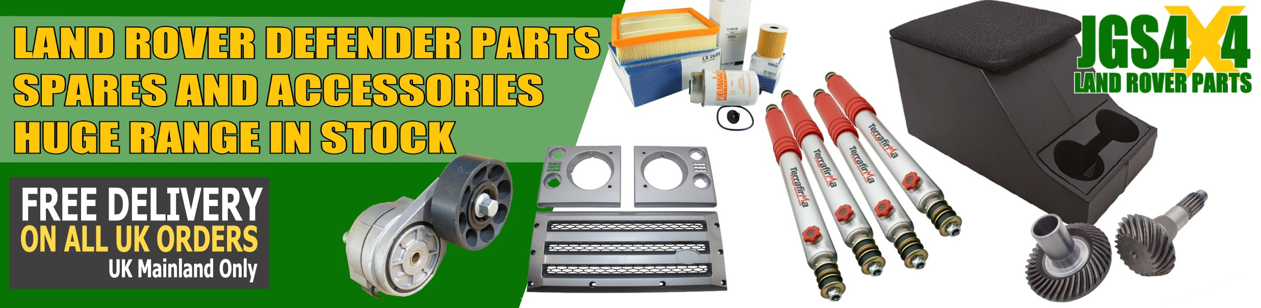 Land Rover Defender Parts, Spares and Accessories. Huge range in stock.