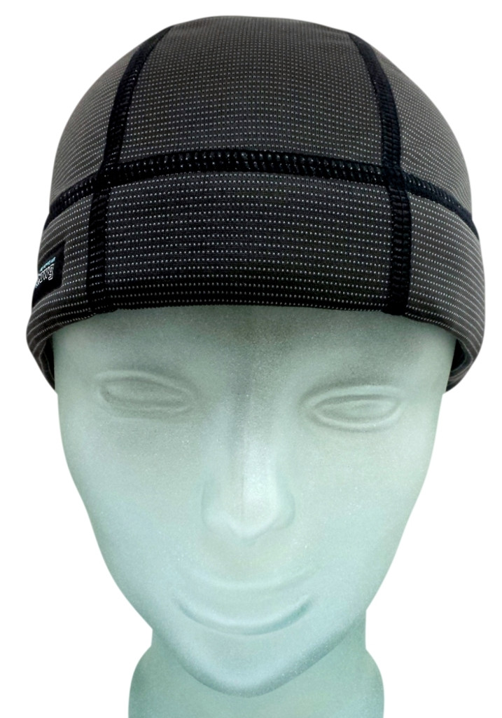 Skull Cap X2 in Charcoal is stylish to be worn alone or also works under a helmet or hat.