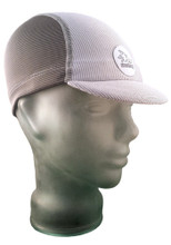 Cycling Cap in Stormy Grey and Ash White