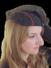 Side view of SweatHawg Helmet Liner under helmet