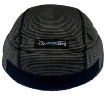 Sweat Helmet Liner X² - Hook and Loop in Charcoal Black