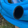 63mm blue MDPE pipe coil.
