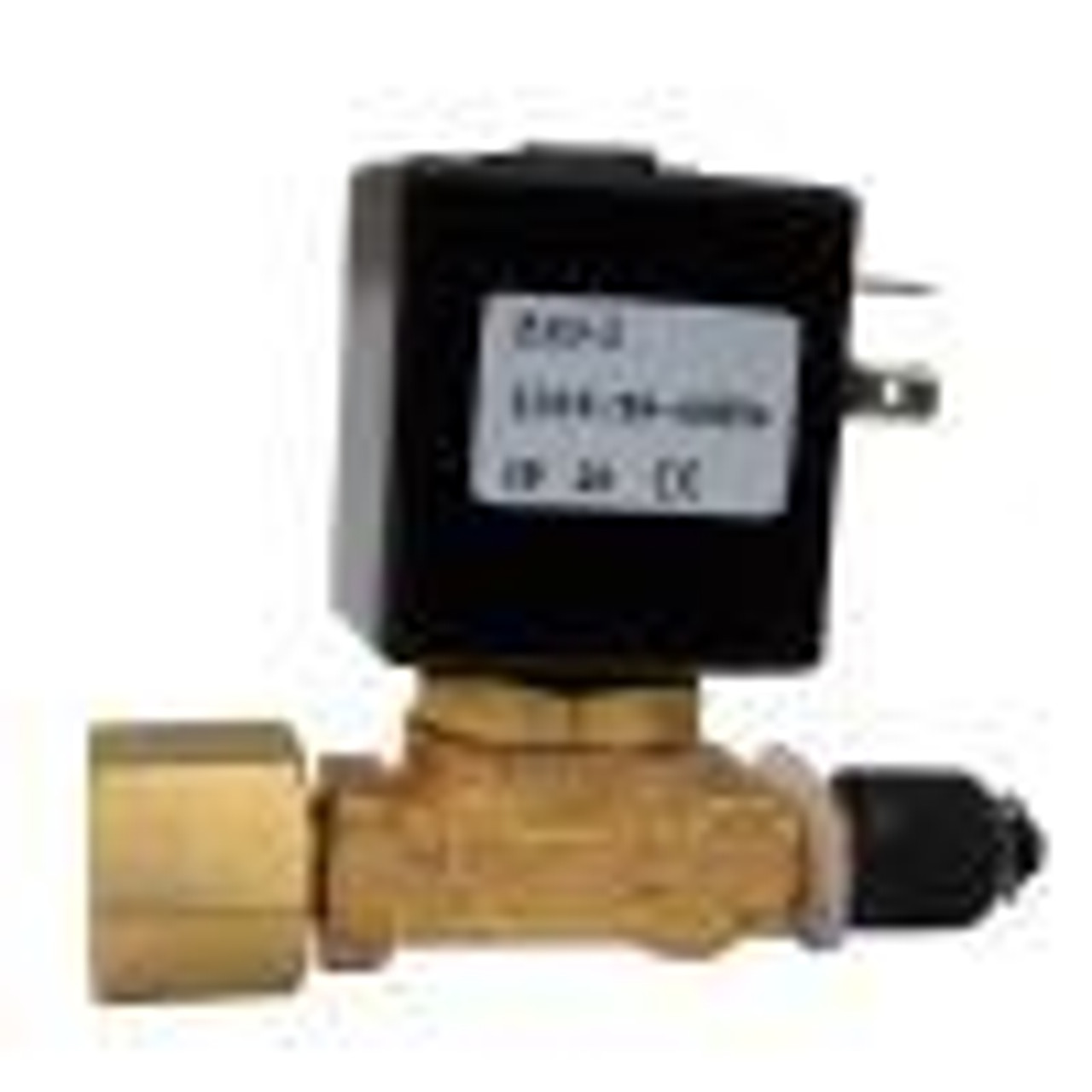 Discharge fitting with solenoid valve, 1/4 inch NPT