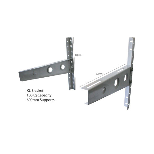 Air Conditioning condenser unit XL wall mounted brackets up to 100kg steel