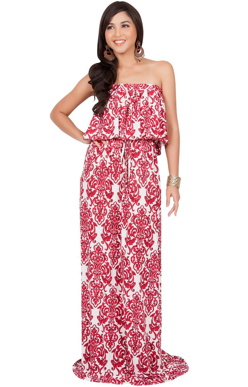 Sexy summer maxi dress