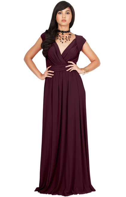 KOH KOH Wedding Bridesmaid Evening Maxi Dress Gown - NT229 - KOH KOH ...