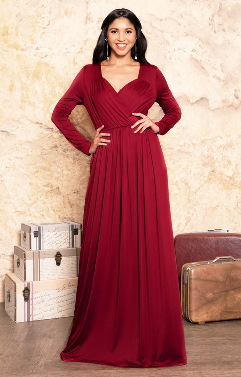 koh koh long sleeve formal evening maxi dress gmd001