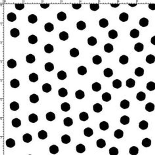 jumbo dots white/blk fabric