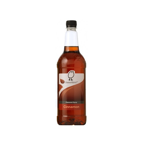 Sweetbird Cinnamon Syrup 1 Litre - Great with Coffees, Chocolate and Smoothies!