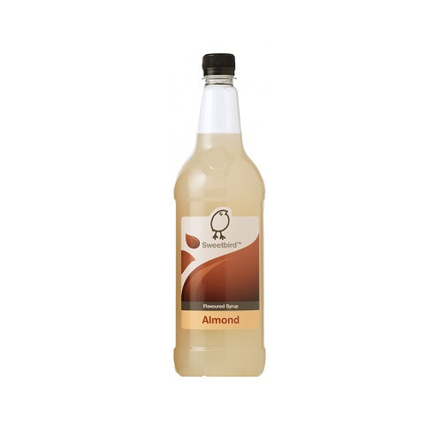 Sweetbird Almond Syrup 1 Litre - Tastes great when added to a Mocha!