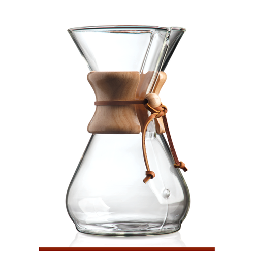 Chemex 10 Cup Classic Wooden Collar Coffee Brewer (CM-8A)