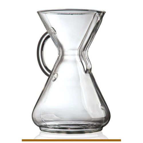 Made of non-porous Borosilicate glass which will not absorb odors or chemical residues CHEMEX pour-over allows coffee to be covered and refrigerated for reheating without losing flavor Simple, easy to use with timeless, elegant design Use CHEMEX Bonded Filters FP-1, FC-100, FS-100, FSU-100