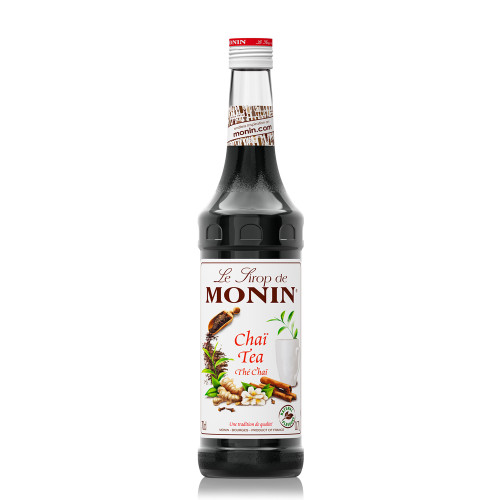 MONIN Premium Syrup Chai Tea can be added to water, milk, hot or cold and is also great for Cocktails and Sodas!