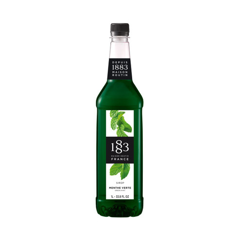 With the refreshing taste of mint, 1883 Maison Routin MINT Syrup can be used in various alcoholic and non-alcoholic drinks.