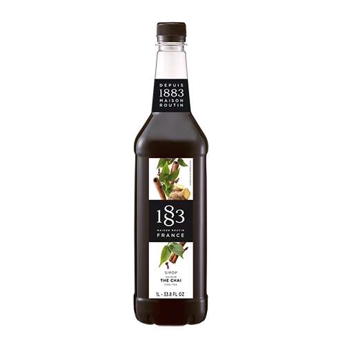 1883 Maison Routin Chai Tea Syrup has a tea aroma enhanced by spices with notes of ginger and cinnamon, and can be added to a diverse range of both alcoholic and non-alcoholic beverages.