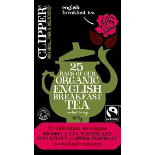Clipper's extremely special blend of the finest Organic Assam and Ceylon teas has a full, refreshing flavour that's welcome at any time of day.