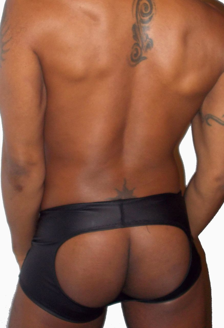 neoprene open back brief shorts