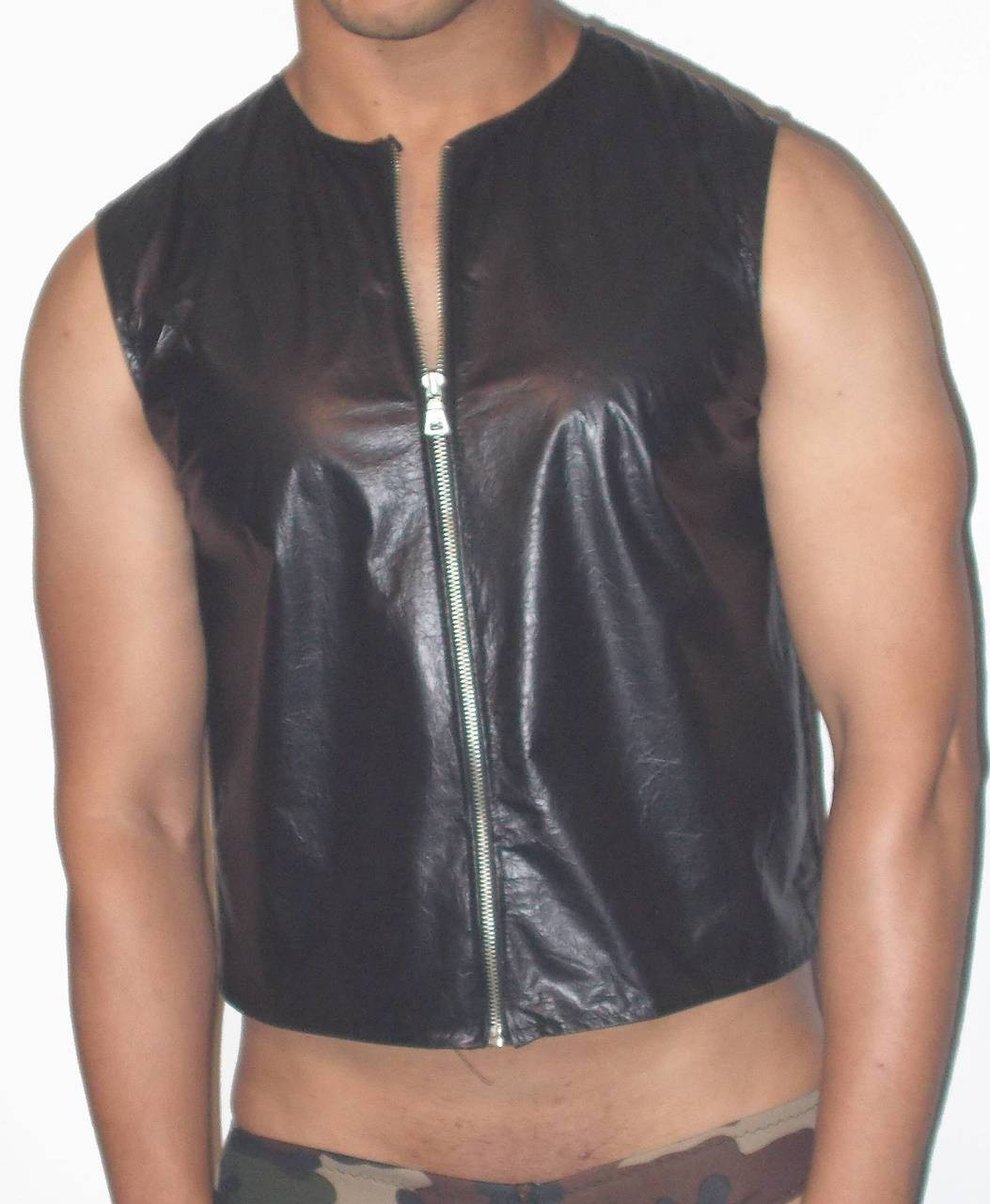 Zip Front Leather Vest